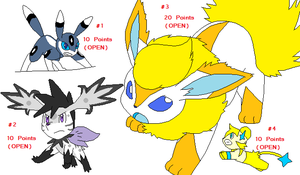 Pokemon Point Adopts by Child-Of-Hades