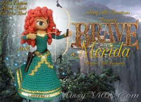 Disney's ~ Merida ~ BRAVE ~ Crochet Doll by MissyBaque