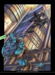 Darth Maul and Aayla Secura by soulfinder90
