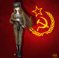 Soviet Russian Girl by Oslight