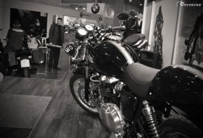 Triumph's oldtimer style by 0dyseusz