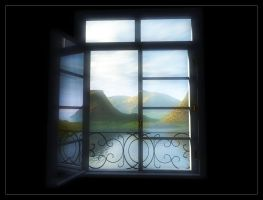 View from a window by brokenangel