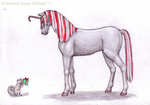 Candycane Unicorn by tamsinrj