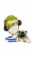 pewdiepie and Puga by NyahNikki