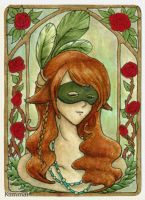 Green forthe FantasyMasquerade by XKimmaiX