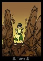 Earthbender Toph by katiediazz