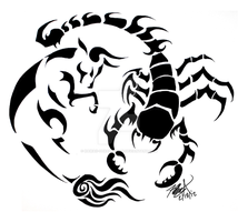 Taurus and Scorpio: Tattoo Design by kawaii-oekaki-chan