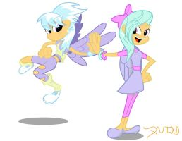 Cloudchaser and Flitter in the Flesh by RockingQuix