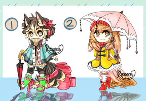 [CLOSED] Rainy Day Fluffs [AUCTION] by Riccasze