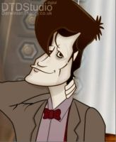 Dr Who Matt Smith Cartoon by dtdstudio