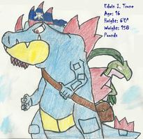 Edwin as Feraligatr $Improved$ by IncredibleCheese