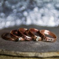 Copper and silver rings by OlgaC