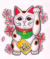 Lucky Cat by Kirzten