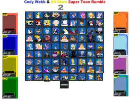 Cody Webb and All-Stars Super Toon Rumble 2 Roster by cartoonfanboyone