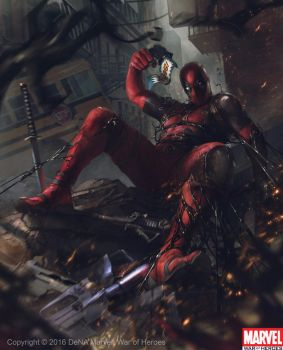 Deadpool vs Venom Symbiote by Denstarsk8