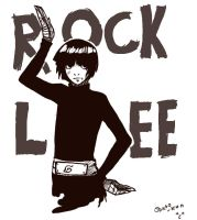 Sketches : Rock Lee 02 by Osato-kun