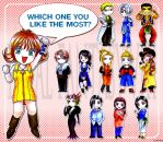 Chibi FF8 Characters by Lynling