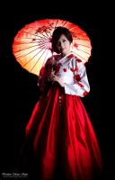 Red and White Hanbok by KimRaceQueen