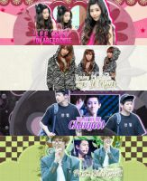 Pack Signature #7 [ Lee Qri and Park Chanyeol ] by BunnyLuvU