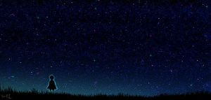 starry sky_wallpaper by YumiKF