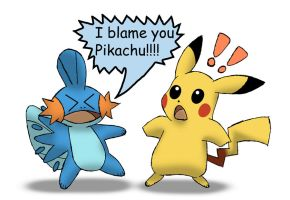 I BLAME YOU PIKACHU!!!! by MetaDragonArt