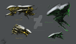 Alien space ships 4 comic by AlphaAnime
