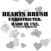 Hearts Brush by sd-stock