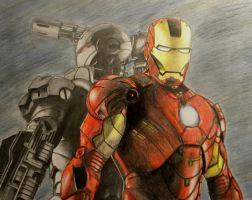 Iron Man and War Machine by MP-R
