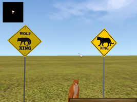 Wolf-Cat_CrossingSign.mesh for FeralHeart by Chunkymonkey94