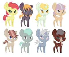 [OPEN] My Little Pony Adoptables by callentine