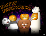 We Bare Bears Jack-O-Lanterns by ShadowNinja976