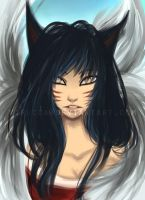 Ahri LoL - shadow/lighting gif by virecca