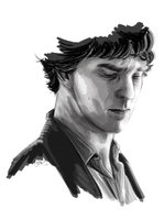 Speedpainted Cumberbatch by JazzySatinDoll