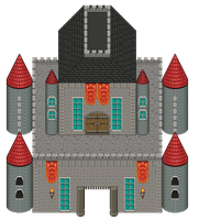 Pixel Castle by chasz-manequin