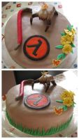 Half-Life Birthday Cake by YellowDaw