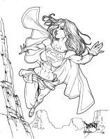 Supergirl Inks by DontBornInInk