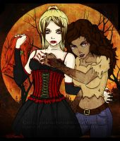 The Vampire and the Werewolf by Acaciathorn