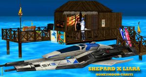 Shepard X Liara   HONEYMOON-TAHITI   7-29-2015 by blw7920