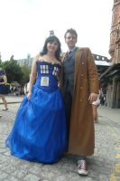 The Doctor and the TARDIS by Hatters-Workshop