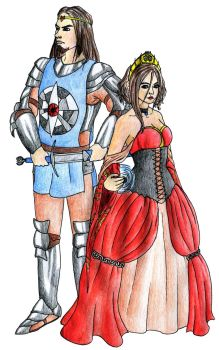 Empress Chaos and First Knight Loran by Doofus-the-Cool