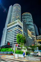Nagoya at Night by mib4art
