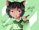 Art Trade with Nattikat8: Michi by Caroline-chan5
