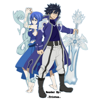 Juvia And Gray Render by flammaimperatore