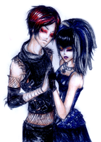 Goth Couple by EM0LeSS