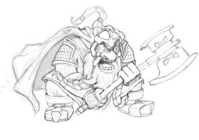 Gimli Sketch by trickydeuce