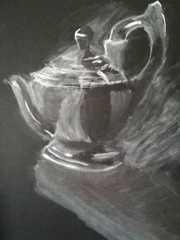 Teapot on a black paper by Andrix9743