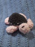 Baby Sea Turtle Amigurumi in Pink and Brown by PerilousBard