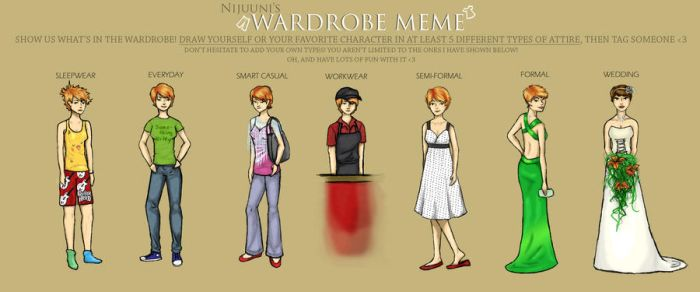 wardrobe meme by XIU-XING