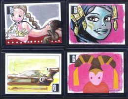 Galaxy 6 Sketch Cards by kettleart