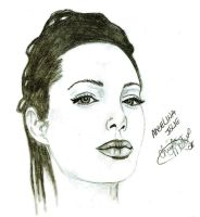 Angelina Jolie By CM by khrysta